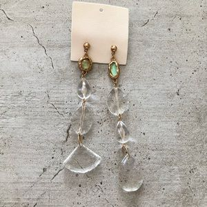 Free People Crystal Clear Asymmetrical Earring